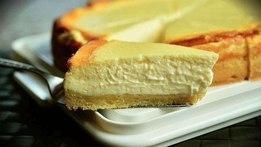 Un dessert cheese cake fait au thermomix